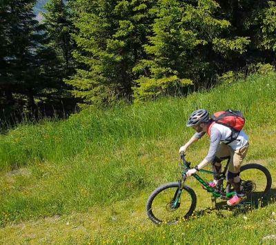 Daniel mountain biking